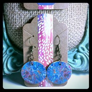 Jewelry - Marble Print Earrings